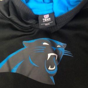 Carolina Panthers team hoodie size youth NWOT